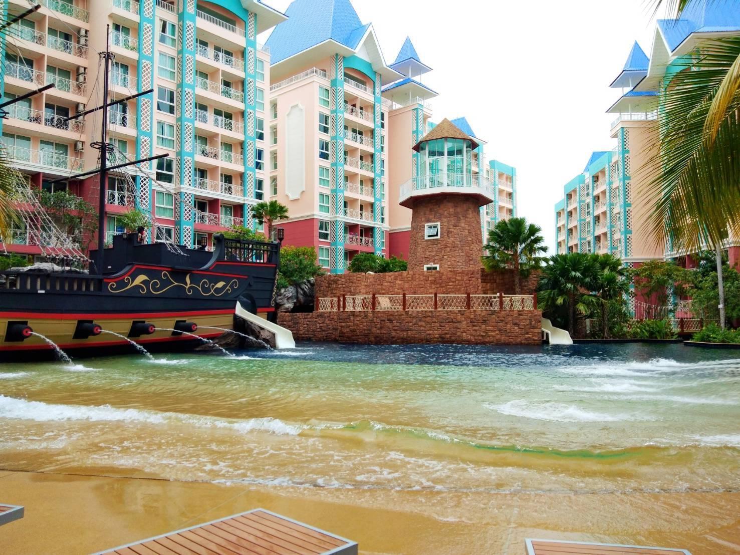 Pattaya Resort&Condo Grand Caribben อพาร์ตเมนต์ 1 ห้องนอน 1 ห้องน้ำส่วนตัว ขนาด 36 ตร.ม. – พัทยากลาง