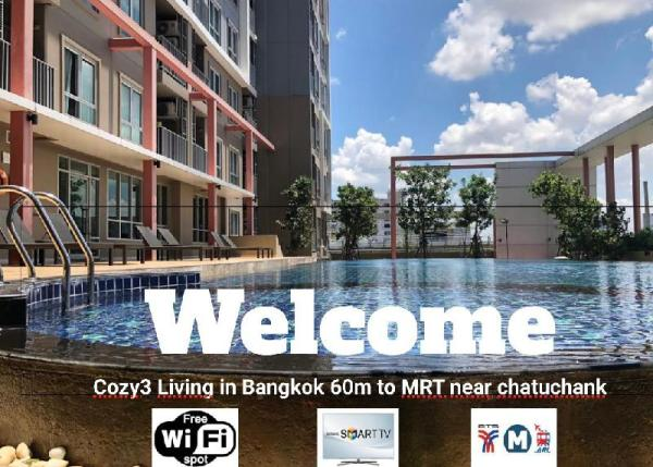 Cozy3Living in Bangkok 60m to MRT near chatuchank Bangkok
