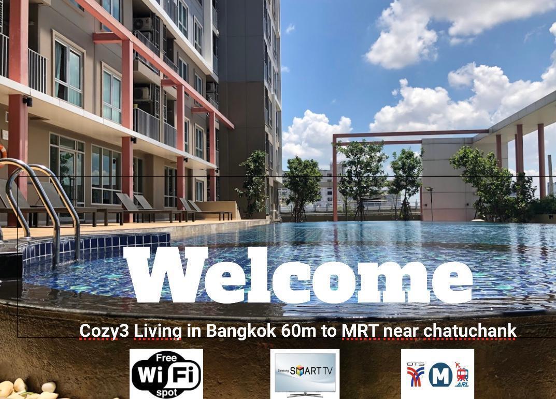 Cozy3Living in Bangkok 60m to MRT near chatuchank อพาร์ตเมนต์ 1 ห้องนอน 1 ห้องน้ำส่วนตัว ขนาด 30 ตร.ม. – จตุจักร