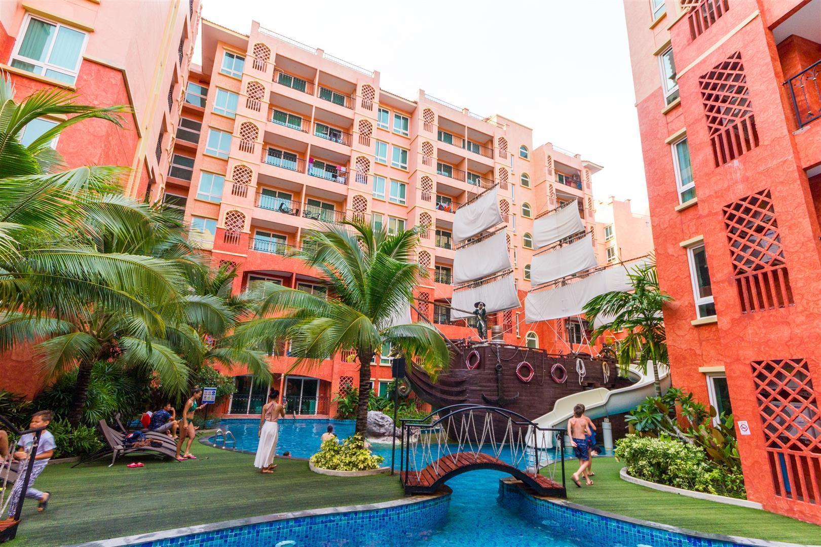 Seven Sea Resort Pattaya A516 อพาร์ตเมนต์ 1 ห้องนอน 1 ห้องน้ำส่วนตัว ขนาด 37 ตร.ม. – หาดจอมเทียน