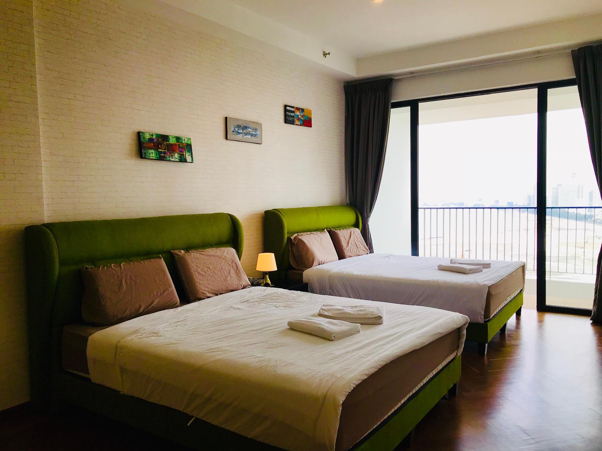 Luxury Seaview Studio For 4 With Balcony