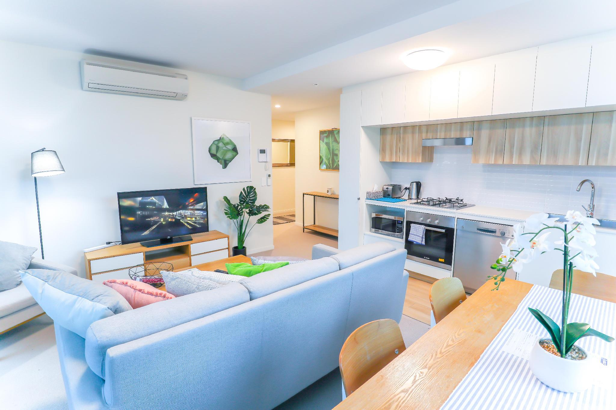 Incredible Riverside 2Beds With Parking@Brisbane
