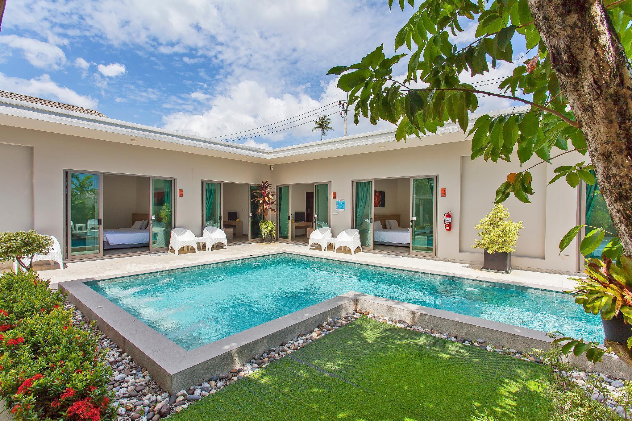 ⭐Modern Getaway Villa 6BR Sleeps 12 w/Private Pool วิลลา 6 ห้องนอน 6 ห้องน้ำส่วนตัว ขนาด 8000 ตร.ม. – บางเทา