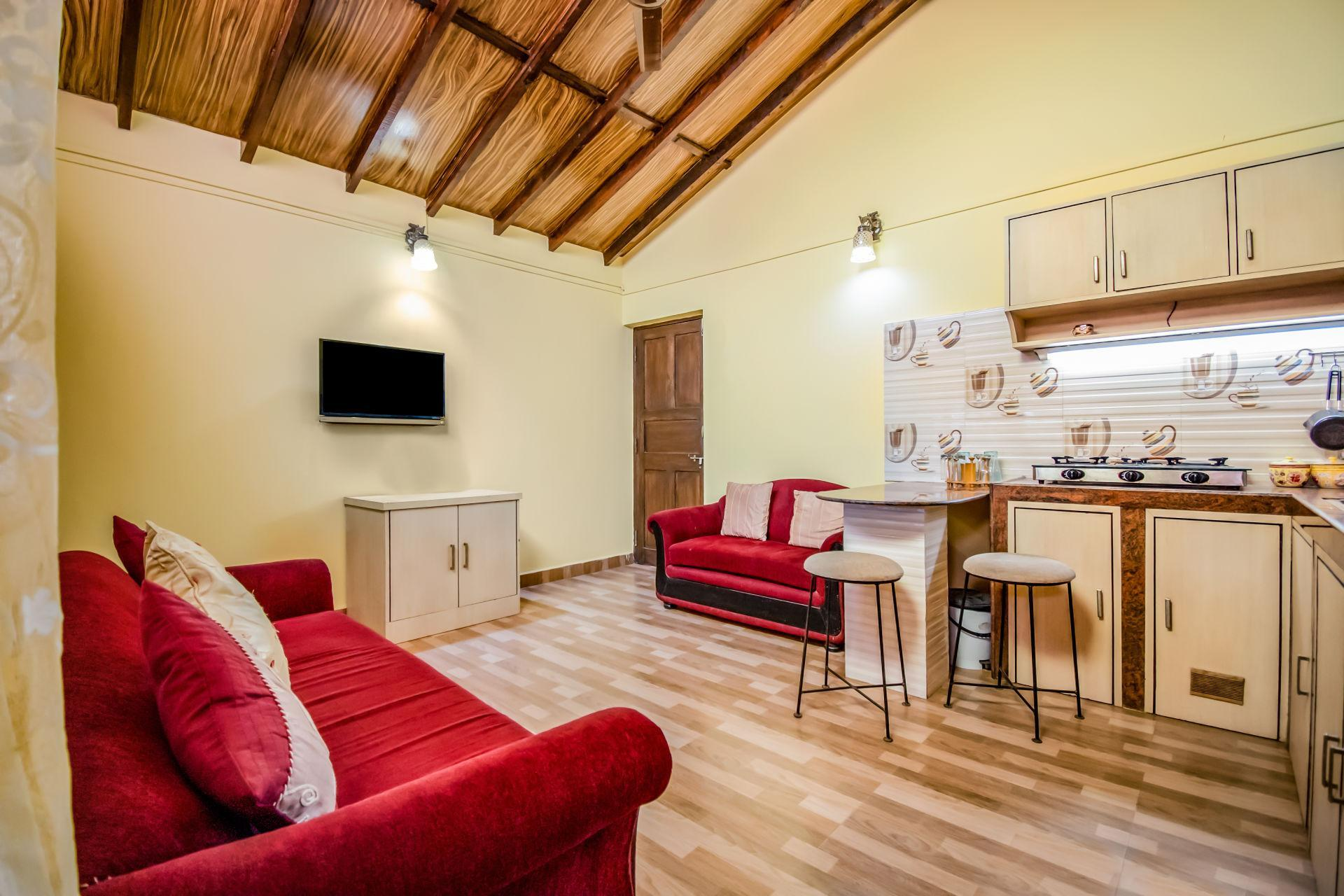 Cheerful One Bedroom Apartment In Anjuna 73915