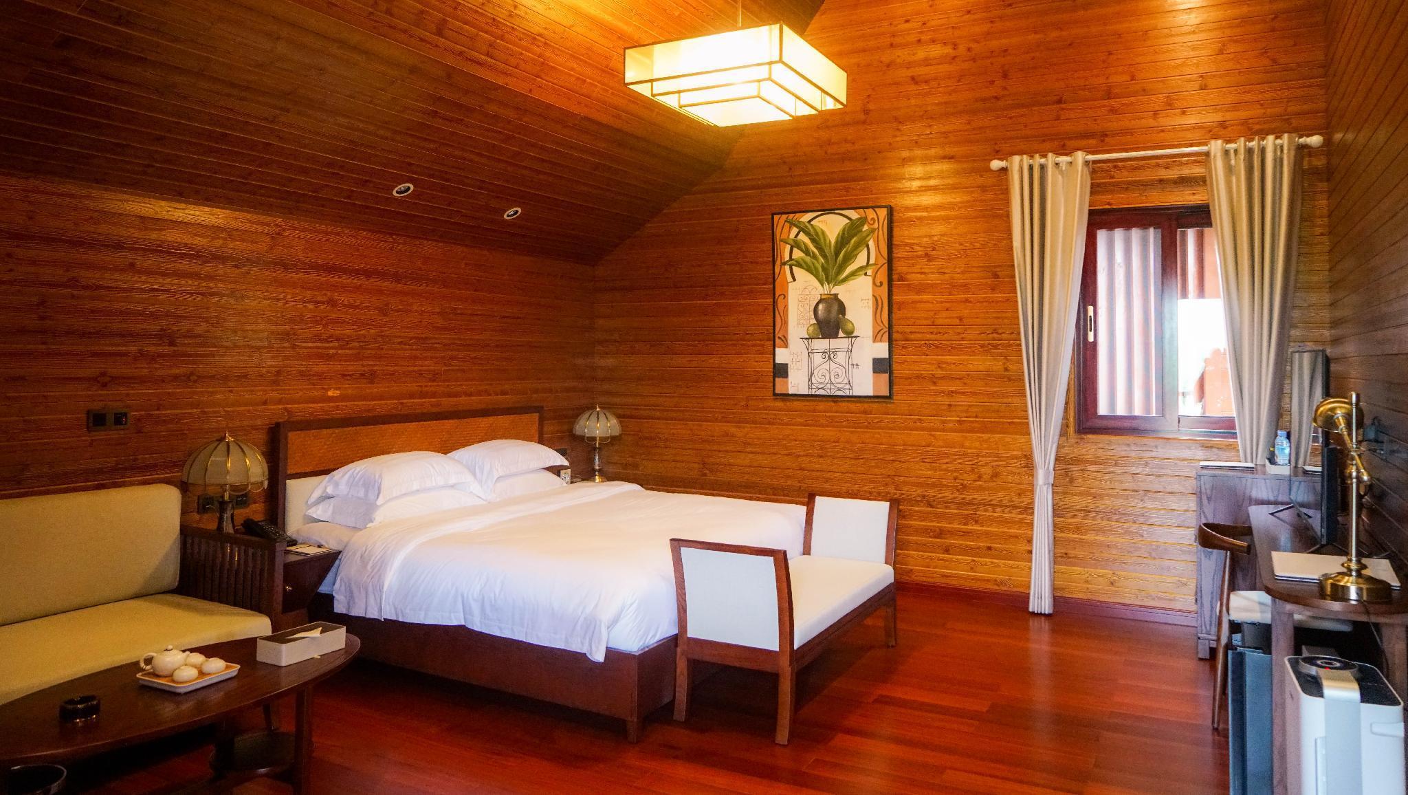Khmer Villa Cabin Big Bed Room