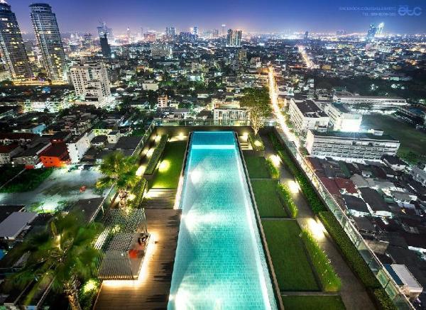 Sathorn soi11 1BR rooftop Pool GYM BTS Close Silom Bangkok