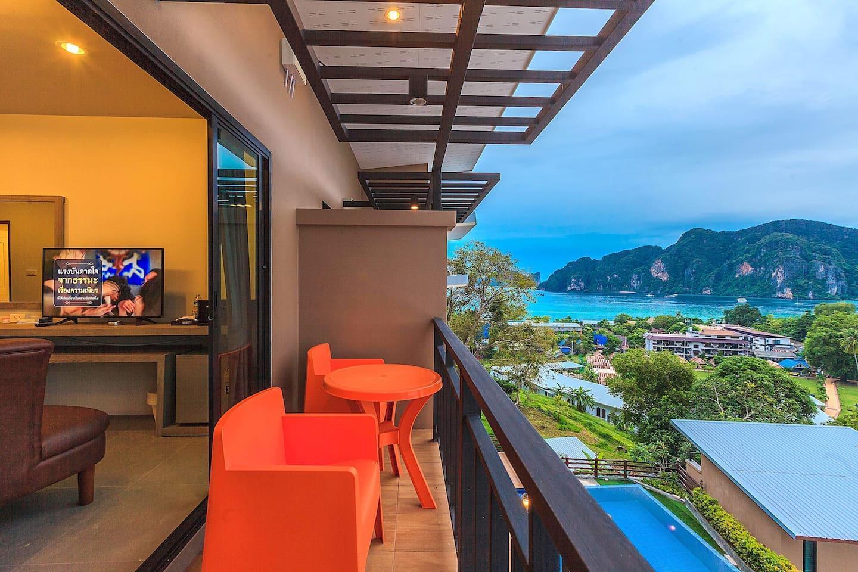 Luxury Sea view room on Phi Phi สตูดิโอ อพาร์ตเมนต์ 1 ห้องน้ำส่วนตัว ขนาด 30 ตร.ม. – อ่าวโละดาลัม
