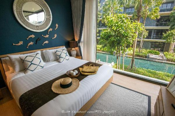 Baan Mai Khao 2BR Beachfront Condo with Pool View Phuket
