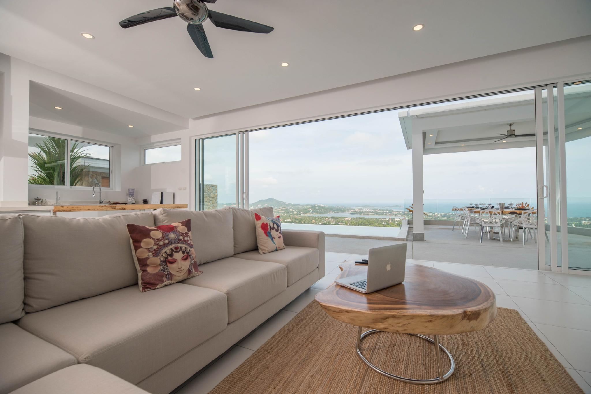 New Villa Melissa Infinity Pool Panoramic Sea View วิลลา 5 ห้องนอน 5 ห้องน้ำส่วนตัว ขนาด 315 ตร.ม. – หาดเฉวง